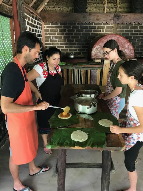 Mayan cooking class with kids